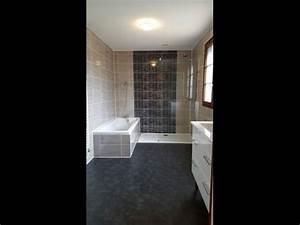 Rénovation Salle De Bain Avant Après : r novation salle de bain avant apr s youtube ~ Dallasstarsshop.com Idées de Décoration