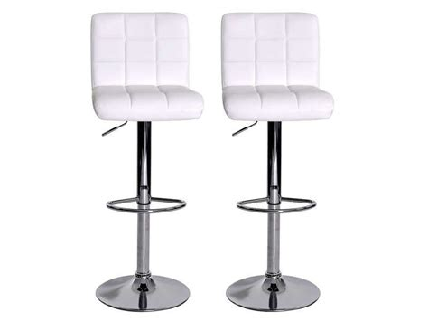 lot de 2 tabourets de bar nala coloris blanc conforama pickture