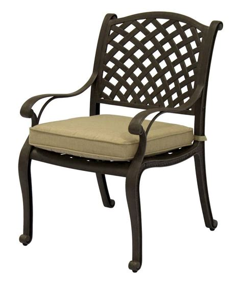 nassau cast aluminum powder coated 4 dining chairs with