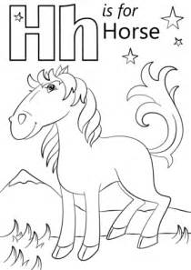 letter    horse coloring page  printable