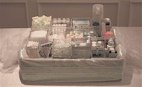 ally  wedding wonderland bathroom baskets  guests