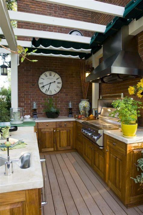 cocina exterior ideas estupendas  preparar cenas en