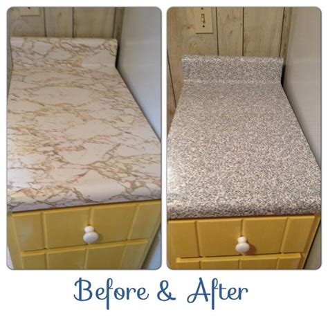 Contact Paper For Kitchen Countertops by Granite Contact Paper Countertops Before After In A
