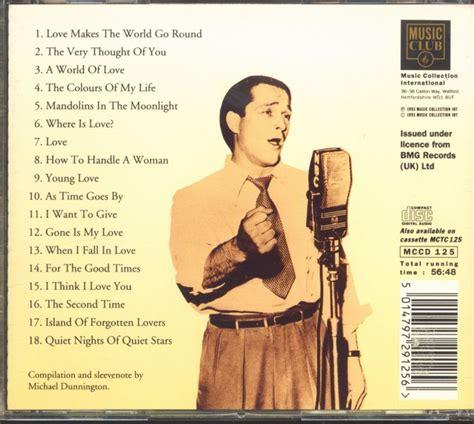 perry como love songs perry como cd love songs cd bear family records