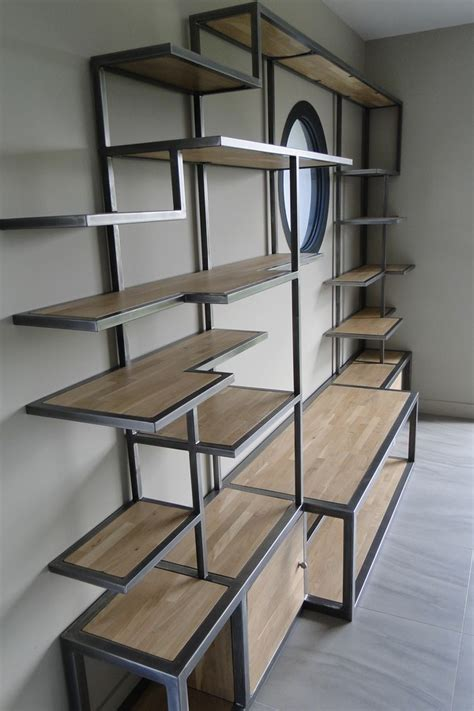 chaise bois et metal conception et fabrication de mobilier contemporain acier bois metal créateur artisanal table