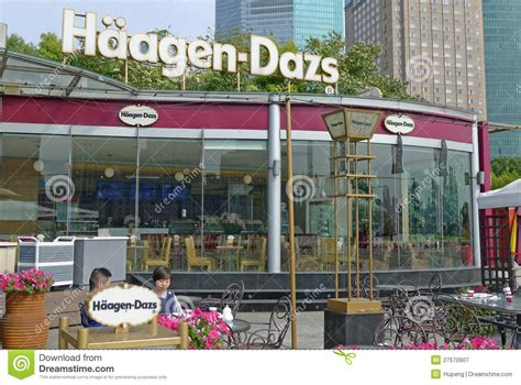 haagen dazs store  shanghai editorial photography
