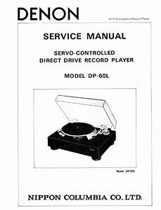Denon Dp 60l Turntable System Service Manual Free Download