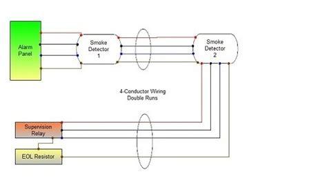 smoke detector wiring connecting runs