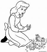Sad Coloring Cinderella Princess Printable Cartoon Sheet Getcolorings Popular Awesome sketch template