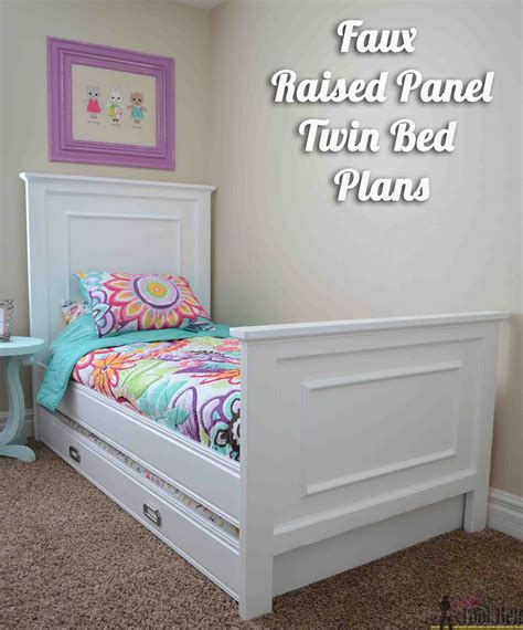 twin bed  faux raised panel  tool belt