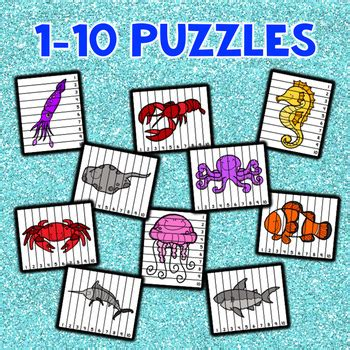 number sequencing puzzles ocean animals  lora henson tpt