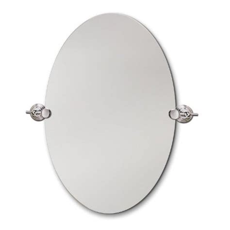 west beveled oval chrome swivel mirror 24 by 36 inch