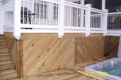 Deck Skirting Ideas by Deck Skirting Screen Porch And Deck Ideas