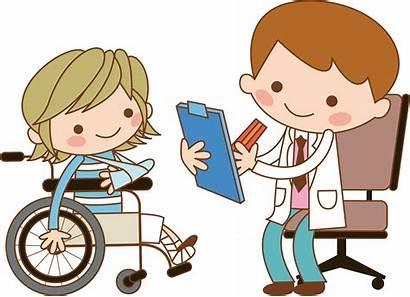 Nurse Doctor Clipart Patient Wheelchair Clip Cartoon