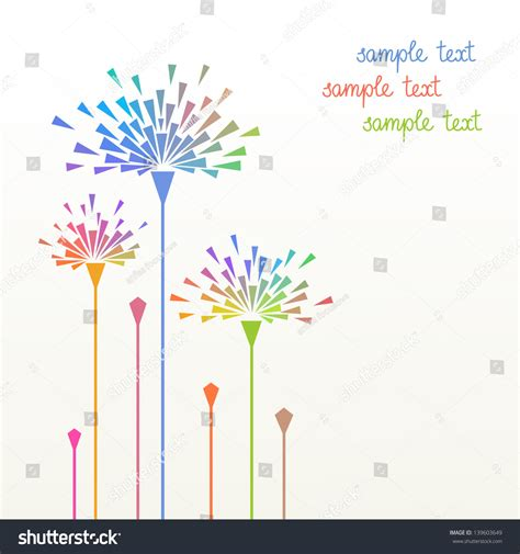 vector simple background stylized flower geometric stock