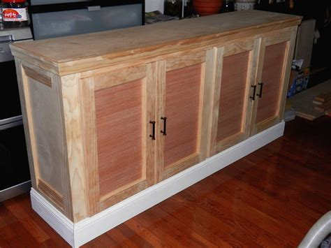 photo  unfinished sideboard