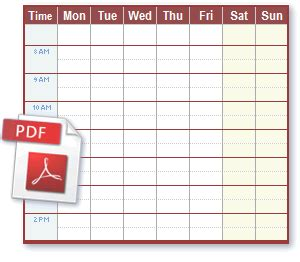 weekly schedule template pdf 5 work schedule templates excel xlts