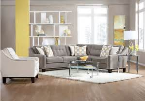 cindy crawford home state street 2 pc mineral sectional
