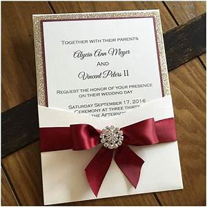 burgundy wedding invitations marina gallery fine art With wedding invitations with burgundy ribbon