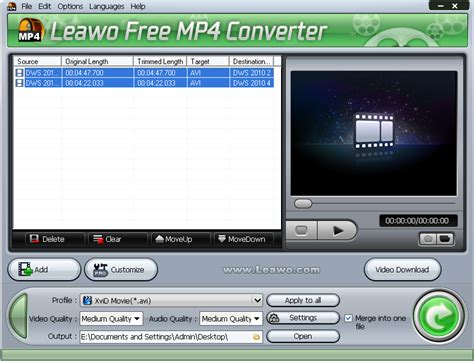 How To Convert Avi To Mp4 With Leawo Free Mp4 Converter