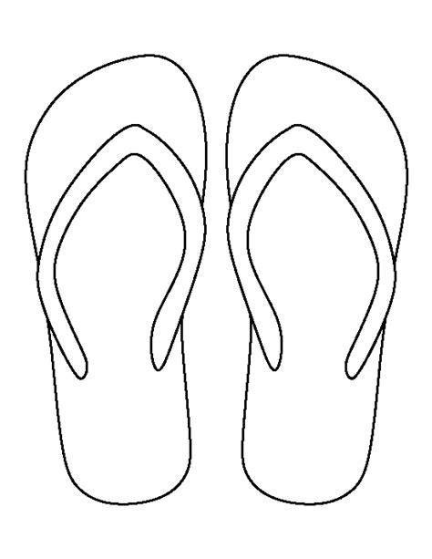 flip flop template printable flip flop template