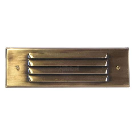 outdoor low voltage louvered antique brass rectangle