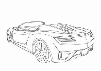 Nsx Acura Sketches Concept Coloring Drawings Sketch