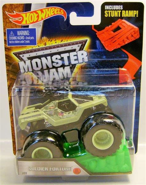 diecast monster jam trucks soldier fortune military w ramp monster jam truck diecast