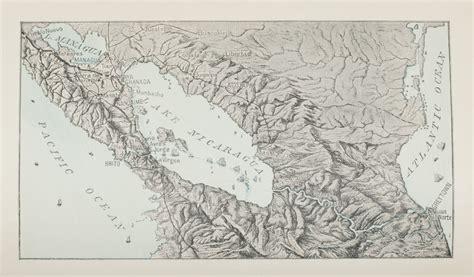 Map of Lake Nicaragua | 150 Years in the Stacks
