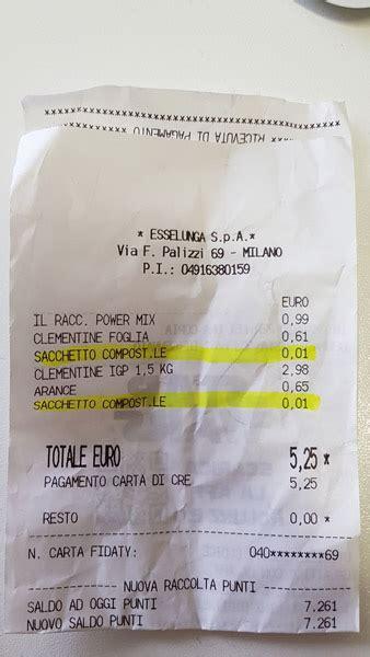esselunga a casa costo quanto costano i sacchetti biodegradabili per il fresco da