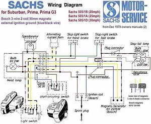 1980 Sachs 505 Hercules No Spark   Moped