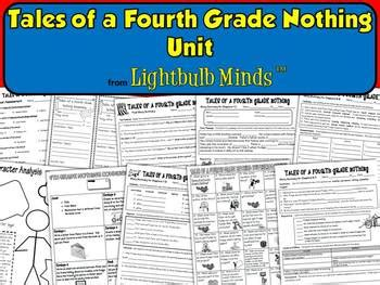 tales of a fourth grade nothing unit from lightbulb minds by lightbulb minds