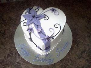 Heart Shaped Birthday Cake Buttercream With Fondant