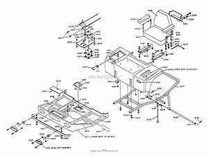 Dixon Ztr 501  1988  Parts Diagram For Body Assembly