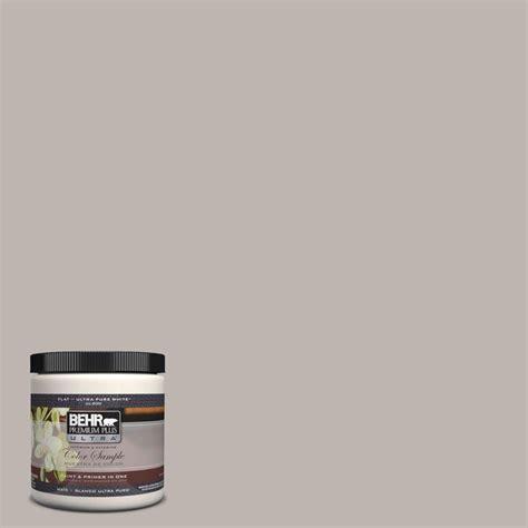 behr premium plus ultra 8 oz ul260 10 graceful gray matte interior exterior paint and primer