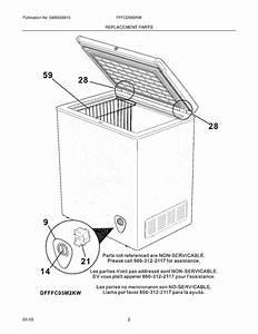 Frigidaire Fffc05m2kw Wire Deep Freezer Basket  White