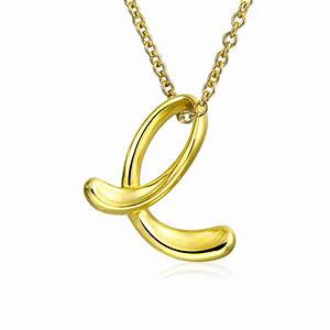 bling jewelry gold plated silver letter e script initial With letter e pendant gold