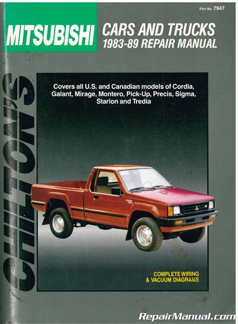 chilton car manuals free download 1986 mitsubishi galant windshield wipe control used chilton mitsubishi cars and trucks 1983 1989 repair manual