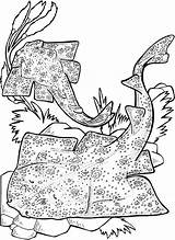 Shark Coloring Pages Sharks Angel Stingray Printable Colouring Animal Wobbegong Sheet Adult Marine Stingrays Drawing Animals Fish Week Getcoloringpages Ray sketch template