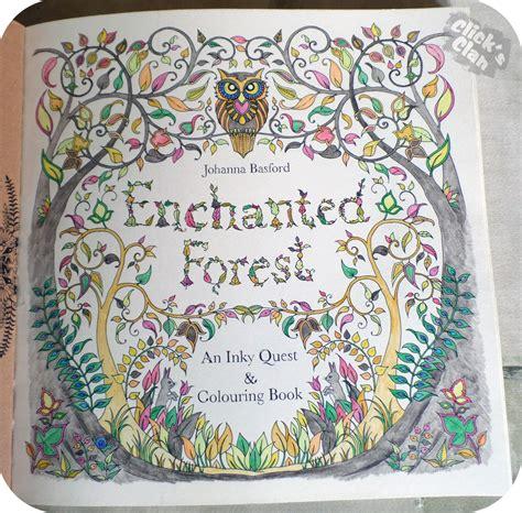 clicks clan colouring  enchanted forest  johanna