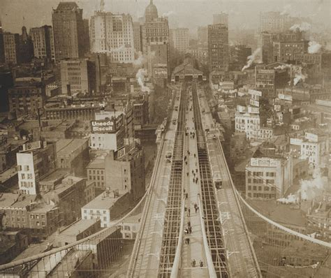 Old New York In Photos 62 Lower Manhattan Brooklyn Bridge