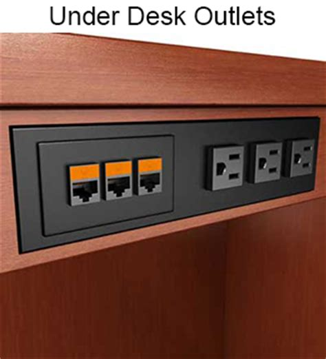built in desk outlets power data outlets customized telecom network video data