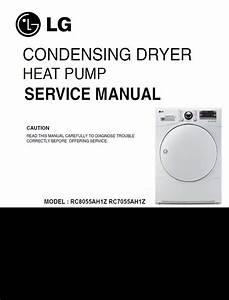 Lg Rc8055ah1z   Rc7055ah1z Dryer Service Manual Service