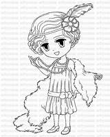 Flapper Coloring 1920s Pages 1920 Brittany Stamp Digital Drawing Printable Colour Colouring Stamps Etsy Getcolorings Digi Getdrawings Meets Sold sketch template