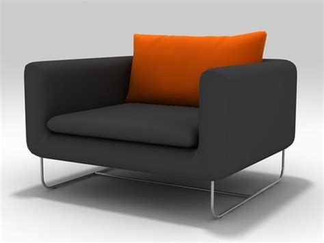 Avalon Armchair And Pouf 3d Model