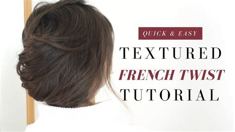 Easy Textured French Twist Tutorial Youtube