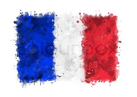 flagge von frankreich gemalt mit stockfoto colourbox