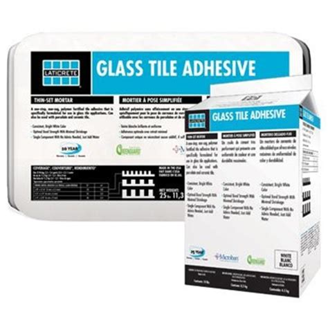 Tile Adhesive Vs Thinset Mortar by Laticrete Glass Tile Adhesive