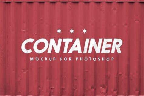 shipping container logo mockup psd medialoot