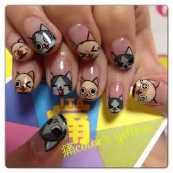 cat nails geeky glamorous anime and inspired nail